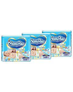 MamyPoko Extra Dry Skin Tape S68+4 (3kg ~ 8kg) *3 PACK BUNDLE*