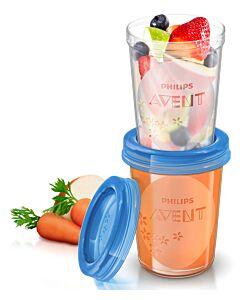 AVENT: Reusable Breast Milk / Food Storage Cups (5 x 8oz / 240ml) - 20% OFF!!