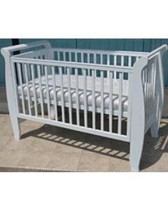 Seni Daya: Costa 4-in-1 Convertible Baby Cot (White) & LATEX Mattress & 7pcs Crib Set Package - 27% OFF!!