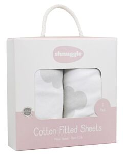 Shnuggle Dreami Sheets Printed with Clouds - 15% OFF!!