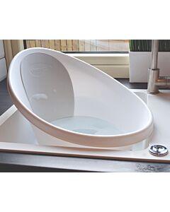 Shnuggle Baby Bath Tub With Plug & Foam Backrest NEW! | White with Light Grey - 16% OFF!!
