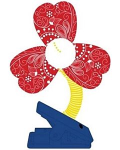 Simple Dimple: Clip On Fan - Red - 10% OFF!