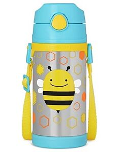 Skip Hop: Zoo Insulated Stainless Steel Straw Bottle (12.2oz/360ml) - Bee - 20% OFF!!