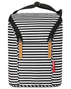 Skip Hop Grab & Go Double Bottle Bag - Black/White Stripe - 20% OFF!!