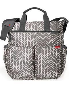 Skip Hop: Duo Signature Diaper Bag - Grey Feather - 20% OFF!!