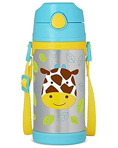 Skip Hop: Zoo Insulated Stainless Steel Straw Bottle (12.2oz/360ml) - Giraffe - 20% OFF!!