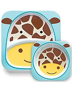 Skip Hop: Zoo Melamine Plate and Bowl Set - Giraffe - 15% OFF!!
