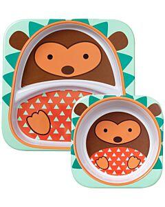 Skip Hop: Zoo Melamine Plate and Bowl Set - Hedgehog - 15% OFF!!