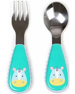 Skip Hop: Zootensils Fork & Spoon Set - Unicorn - 17% OFF!!