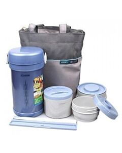 Zojirushi: Stainless Steel Lunch Jar 0.84L - Blue - 10% OFF!!