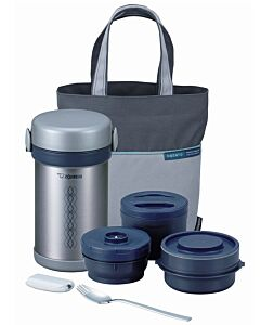 Zojirushi: Stainless Steel Lunch Jar 0.84L - Stainless Silver - 10% OFF!!