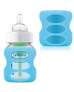 Dr. Brown's: 5oz/150ml PP Options Wide-Neck Glass Bottle Sleeve - Blue - 20% OFF!!