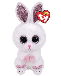 Ty Beanie Boos: Slippers - Rabbit with Slippers (Medium) 13""