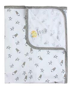 Baa Baa Sheepz: Single Layer Blanket Small Star & Sheepz (White) - 10% OFF!!