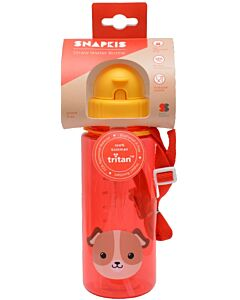 Snapkis: Straw Water Bottle 500ml | Dog - 28% OFF!!