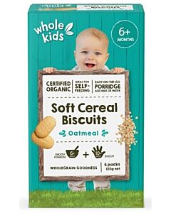 Whole Kids: Organic Soft Cereal BIscuits - Oatmeal [6 packs] (From 6+ Months) - 10% OFF!!