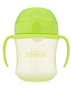 Dr. Brown's: Soft-Spout Transition Cup with Handles 6oz/180ml - Green (6+ Months) - 20% OFF!!