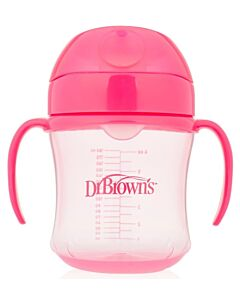 Dr. Brown's: Soft-Spout Transition Cup with Handles 6oz/180ml - Pink (6+ Months) - 20% OFF!!
