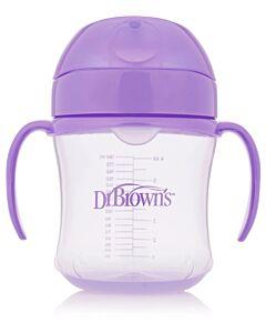 Dr. Brown's: Soft-Spout Transition Cup with Handles 6oz/180ml - Purple (6+ Months) - 20% OFF!!