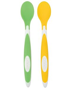 Dr. Brown's: Designed to Nourish™ Soft-Tip Toddler Feeding Spoons (2 Pack) - Yellow & Green - 20% OFF!!