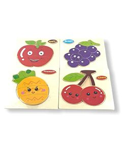 Funny Kid's: Solid Small Puzzle - Grape, Apple, Pineapple & Cherry (Set H) - 10% OFF!!