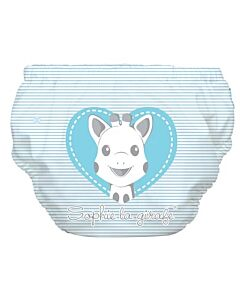 Charlie Banana: Reusable 2-in-1 Swim Diapers and Training Pants Sophie Pencil Blue Heart - XL - 30% OFF!!