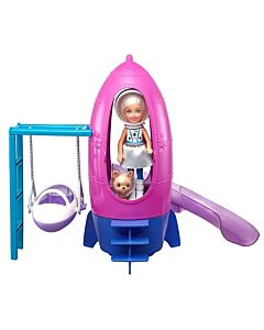 Barbie® Space Discovery™ Chelsea™ Doll & Rocket Ship-Themed Playset with Puppy (3Y+) - 10% OFF!!