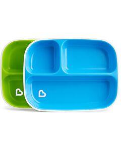 Munchkin: Splash™ Toddler Divided Plates (2 pack) - Blue/Green - 34% OFF!!
