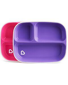 Munchkin: Splash™ Toddler Divided Plates (2 pack) - Pink/Purple - 34% OFF!!