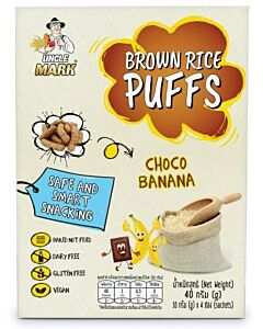 Uncle Mark: Organic Sprouted Brown Rice Puff (10gm x 4's) - Choco Banana - 11% OFF!!