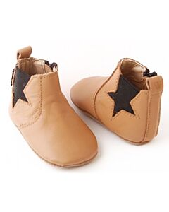 Bebebundo: Star Boots in Brown - Size 2 [11.8cm / 6 to 9 Months] - 16% OFF!!