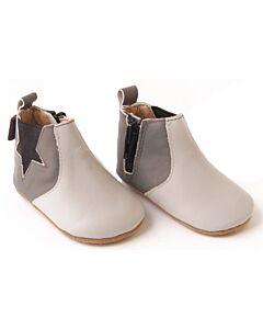 Bebebundo: Star Boots in Grey - Size 3 [12.6cm / 9 to 12 Months] - 16% OFF!!