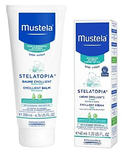 Mustela: Stelatopia Skincare Set (Emollient Balm + Emollient Cream for Face) - 37% OFF!!