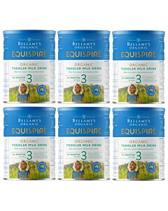 Bellamy's Organic Toddler Drink (Step 3) EQUISPIRE 900g x 6 TINS (Special combo deal) - 18% OFF!!