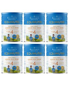 Bellamy's Organic Junior Milk Drink (Step 4) EQUINUTRI 900g x 6 TINS (Special combo deal) - 20% OFF!! (Pre-order: New stock coming around 2nd/3rd week May 2021)