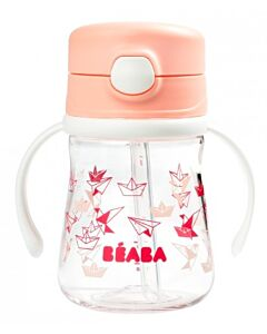 Beaba: Straw Cup 240ml (8+ Months) (Pink) - 20% OFF!!