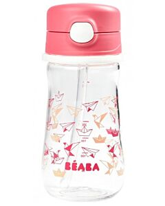 Beaba: Straw Cup 350ml (8+ Months) (Pink) - 20% OFF!!