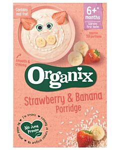 Organix Strawberry & Banana Porridge 120g (6+ Months)