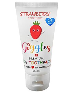 Giggles: Premium Kids Toothpaste 50ml - Strawberry Shortcake (1-6 years) - 10% OFF!!