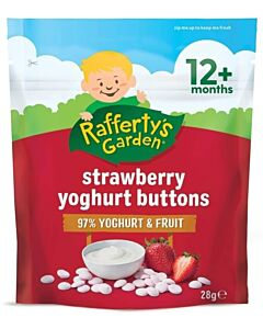 Rafferty's Garden: Strawberry Yoghurt Buttons 28g (12+ Months) - 10% OFF!!