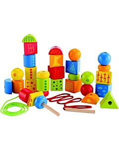 Hape Toys: String Along Shapes / Rainbow Lacing Shapes - 10% OFF!!