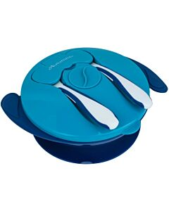 Autumnz: Baby Suction Bowl with Spoon & Fork | Navy Blue - 20% OFF!!
