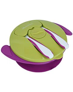 Autumnz: Baby Suction Bowl with Spoon & Fork | Purple - 15% OFF!!