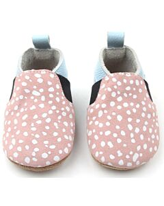 Bebebundo: Sunset Spots Shoes in Pink & Light Blue - Size 3 [12.6cm / 9 to 12 Months] - 16% OFF!!