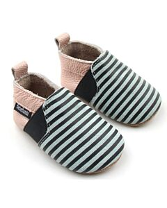 Bebebundo: Sunset Stripes Shoes in Multi - Size 2 [11.8cm / 6 to 9 Months] - 16% OFF!!