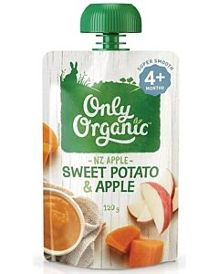 Only Organic: Sweet Potato And Apple 120g - 10% OFF!!