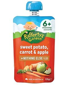 Rafferty's Garden: Sweet Potato, Carrot & Apple 120g (6+ Months) - 23% OFF!!