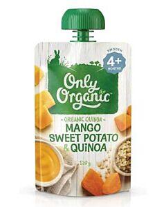 Only Organic: Sweet Potato, Mango, Quinoa 120g (4+ Months) - 10% OFF!!