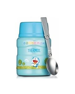 Thermos: 470ml Stainless Steel Food Jar with Stainless Steel Spoon-Doraemon - 30% OFF!!
