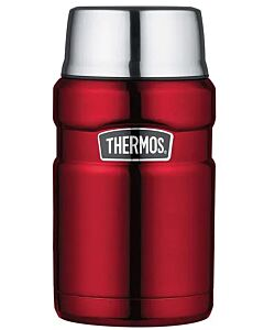 Thermos: Vacuum Insulated Stainless Steel King Food Jar 710ml (Wine Red) (SK3022) - 22% OFF!!